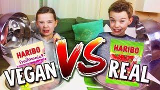connectYoutube - REAL FOOD vs. VEGAN FOOD CHALLENGE - Schmeckt IHR den Unterschied? Lulu & Leon - Family and Fun
