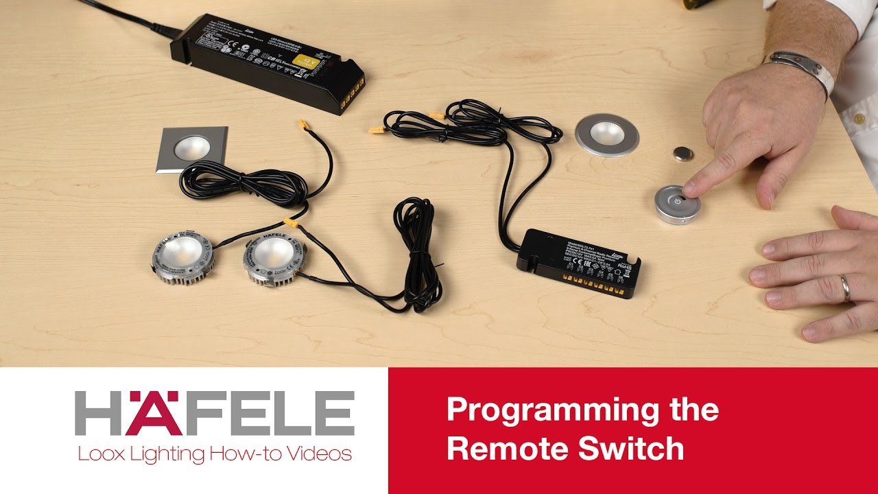 Install The Hfele Loox Remote Switch For Led Lighting Youtube Motion Sensor Light Wiring