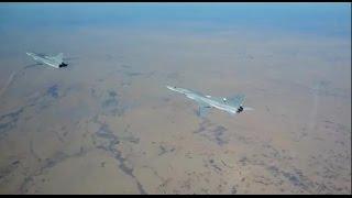 Массированный авиаудар по объектам террористов самолетами Дальней авиации и авиагруппы в Сирии