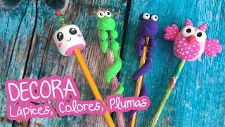 3 ideas para decorar con Foamy Moldeable Lápices, y Colores :: Chuladas Creativas