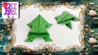 Как сделать Прыгающую лягушку из бумаги. Оригами. How to make a jumping frog of paper. Origami.(В этом видео я покажу как легко сделать своими руками Прыгающую лягушку из бумаги. Это поделка - Оригами..., 2016-04-28T10:00:01.000Z)