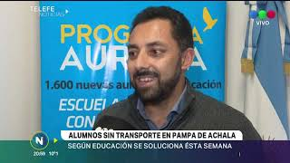 EL MINISTERIO DE EDUCACION DICE QUE EN LOS PRÓXIMOS DIAS SE RESOLVERA EL TRANSPORTE PARA ALUMNOS ESC