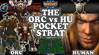Grubby | Warcraft 3 TFT | 1.30 | ORC v HU on Terenas Stand - The ORC vs HU Pocket Strat