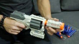 Розпакування 8 зарядного пістолета Бластера і патронів до нього - STATS Blast 8x treme