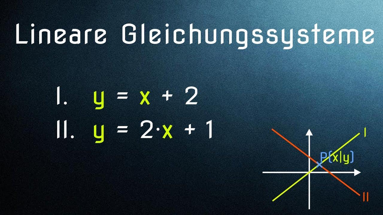 Lineare Gleichungssysteme (1/6) - Die 3 Lösungsverfahren erklärt ...