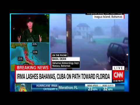 Report from Nassau as Hurricane Irma lashes the Bahamas