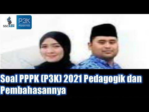 Latihan Soal PPPK (P3K) 2021 Pedagogik dan Pembahasannya