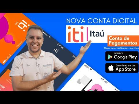 """💳NOVA CONTA DIGITAL: iti Digital do Itaú """" Conta de Pagamentos tudo pelo APP""""🔝"""