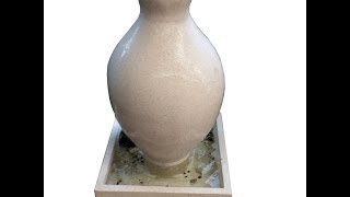 Terazzo Bottle Urn Water Feature (White)