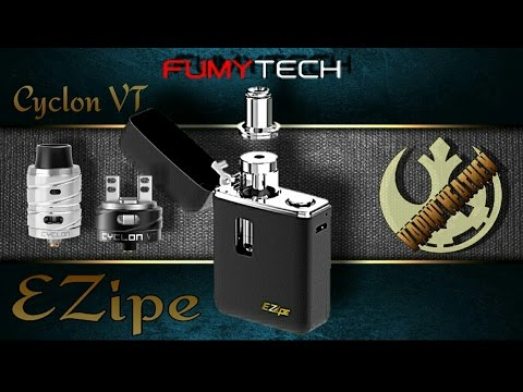 The Ezipe Zippo Style Ecig and a Look at the Cyclon VT RDA | Fumytech