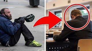 Dieser Mann gab einem Obdachlosen immer Geld - Als er ihn Jahre später wieder sah war er schockiert