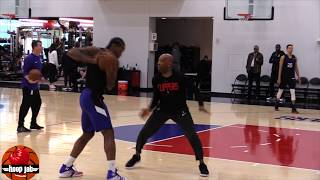 Kawhi Leonard vs Sam Cassell 1 on 1 Drill. HoopJab NBA