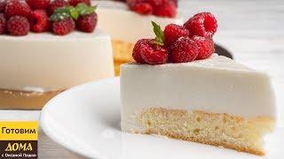 йогуртовый торт  Простой торт с бисквитом и йогуртовым суфле