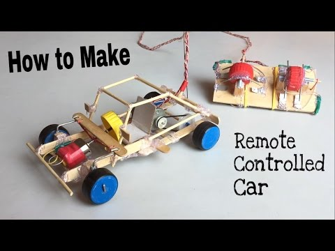 How to Make a Car - With Remote Controlled - Out of Popsicle Sticks