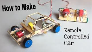 How to Make a Car - With Remote Controlled - Out of Popsicle Sticks - Tutorial(DIY : Learn How to Make a RC Car using Popsicle sticks, its very simple homemade electric motor car, show how the vehicle going. Music from the video: 1) ..., 2016-09-08T12:03:18.000Z)