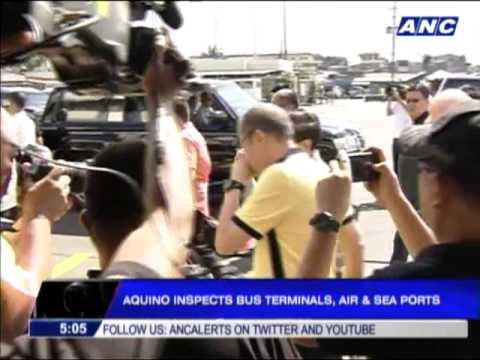 PNoy inspects ports, terminals