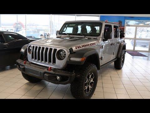 Jeep Wrangler Rubicon Lifted >> Brand New   2018 Jeep Wrangler Rubicon JL   Billet Metallic   Courtesy Chrysler - YouTube