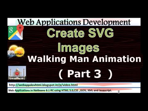 Google Maps Tutorials:Create SVG Images as animation of walking man on  Google Maps:Part3