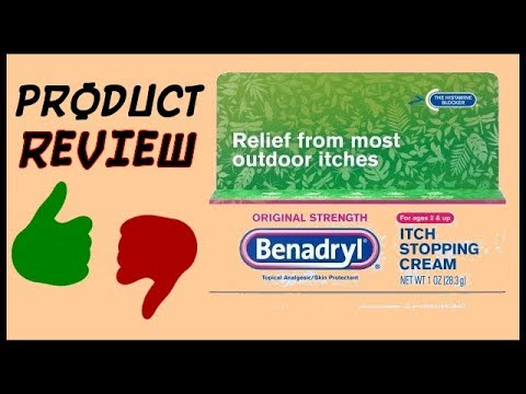 benadryl Itch Stopping Cream (Product Review)