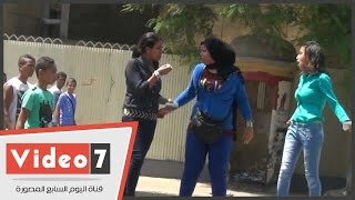 بالفيديو .. فتاة بعد التحرش بها : « لو فيكو راجل يمد أيده تانى »