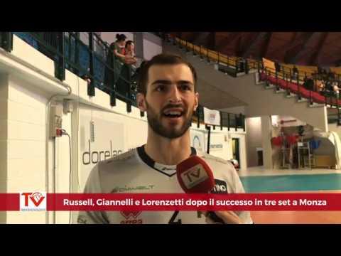 Russell, Giannelli e Lorenzetti dopo il 3-0 a Monza