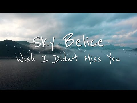 Wish I Didn't Miss You  - Sky Belice (Official Lyric Video)