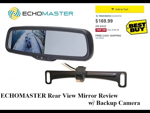 Echomaster Rear View Mirror W Backup Camera