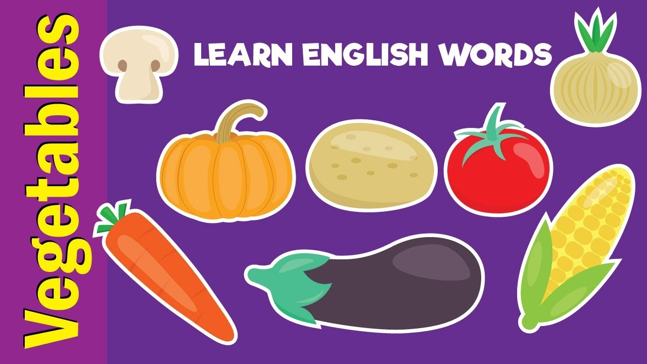 Learn Vegetable Names | Video Flash Cards | Kindergarten ...