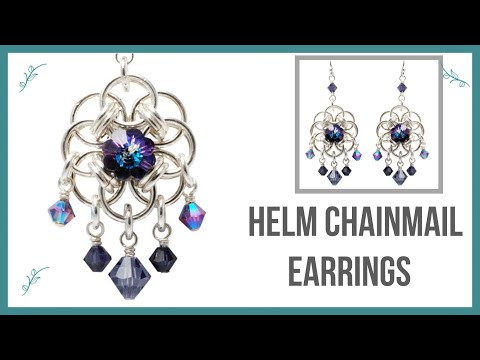 Helm Chainmail Earrings Tutorial - Beaducation.com