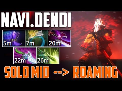 How to get MID with Juggernaut? Dendi will answer you | Dota 2 fullmatch gameplay 2017