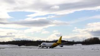 Polar Air Cargo Boeing 747-400 take off, Anchorage Airport, Anchorage, Alaska