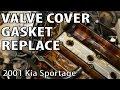 2001 Kia Sportage Oil Leak Valve Cover Gasket Repair