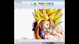 Drawing Goku ssj 2 - (Paint)