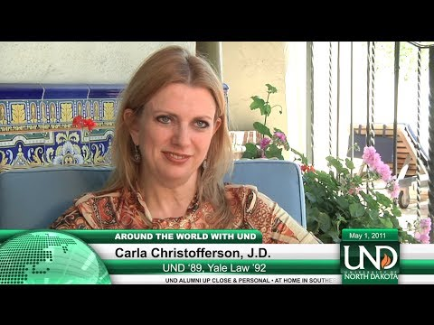 """Why did you choose to be a lawyer?"" - at home with Carla Christofferson, UND '89, Yale '92"