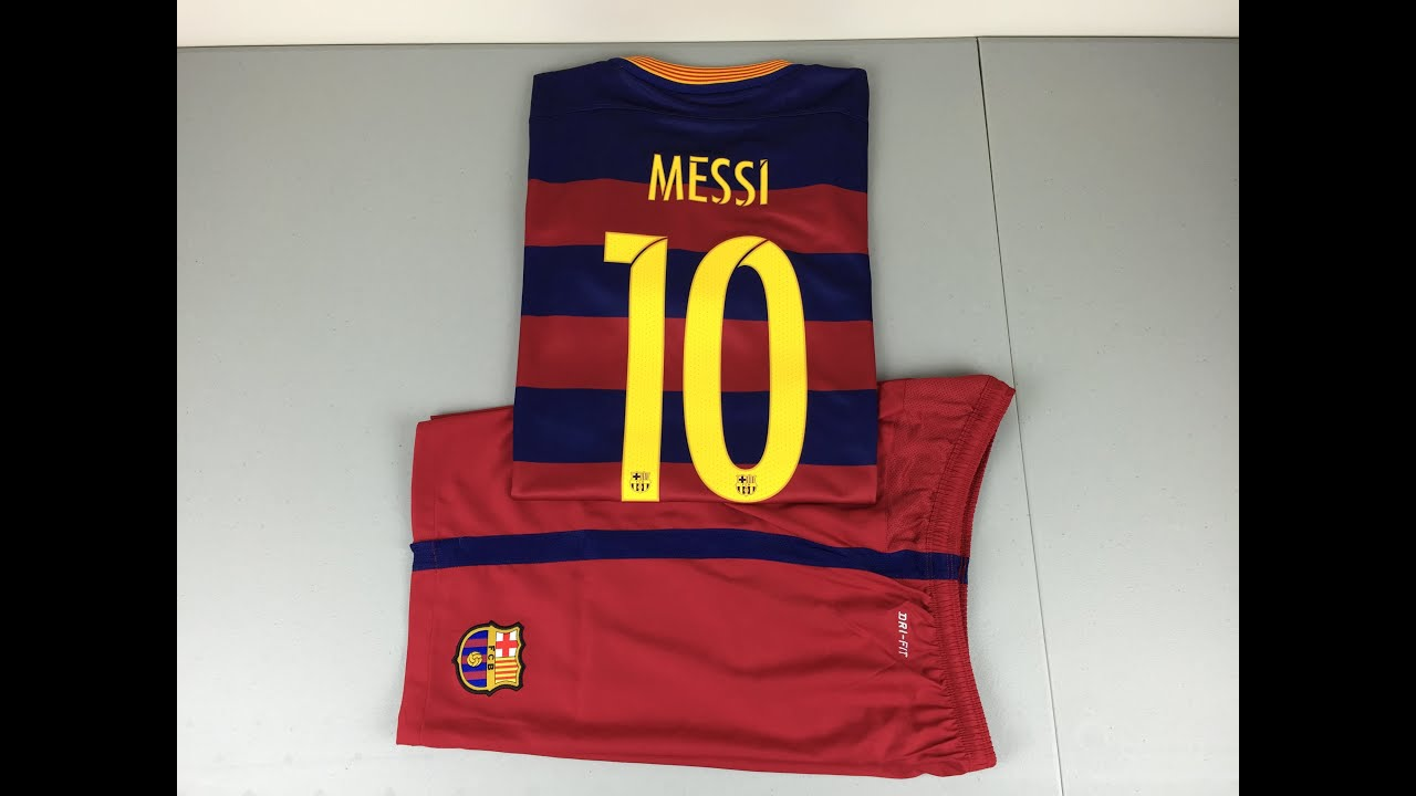 Nice 2015 2016 barcelona soccer uniform jersey short sleeves home 11