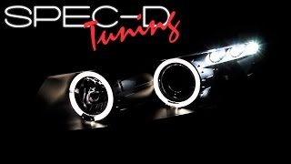 SPECDTUNING DEMO VIDEO: 2008-2012 HONDA ACCORD 2DR COUPE HALO PROJECTOR HEADLIGHTS