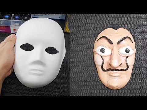 DIY Dali Mask from Money Heist ( La Casa de Papel ) Newborn Photography Prop