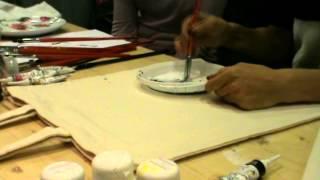 видео Мастер-класс китайского художника по тканям