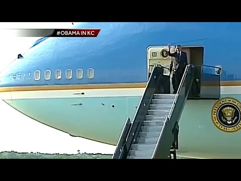 President Obama arrives in Kansas City, USA Local News