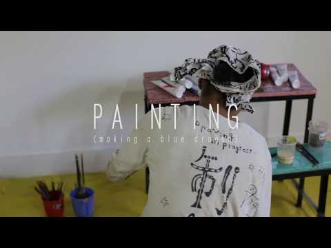 Yusuke Asai - PAINTING (making a blue dragon) at Earth Art Project in Ladakh 2017