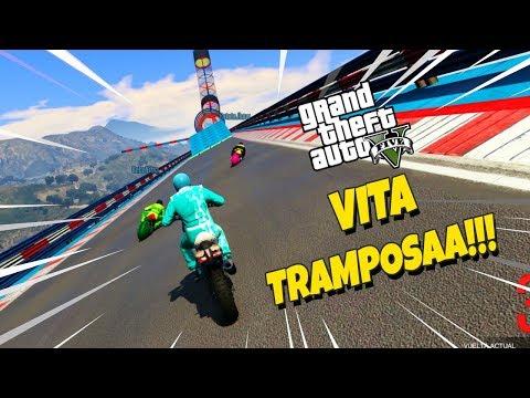 VITA TRAMPOSAAAAAA!! BEBE MILO EN GTA5 CARRERAS MOTOS