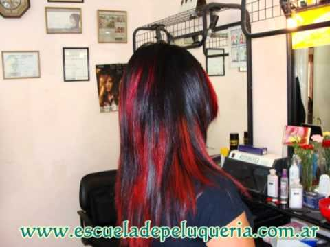 Technique Red Streaks T 233 Cnica De Mechas Rojas Youtube