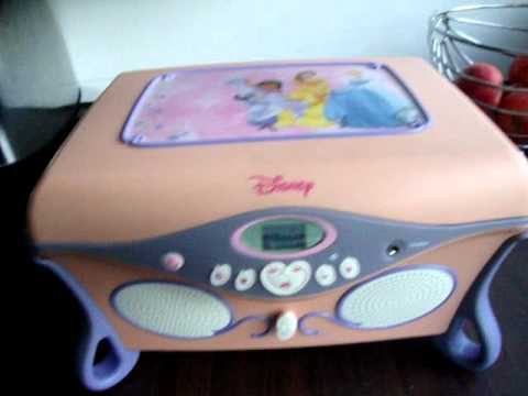 DISNEY PRINCESS CD PLAYER AND JEWELLERY BOX YouTube