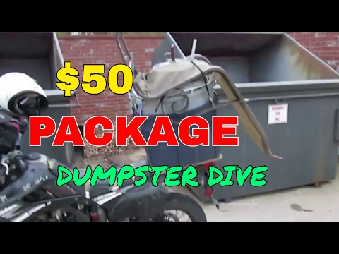 $50 Package - Dumpster Diving Metal Scrapping Motorcycle Video - Copper Wire Score