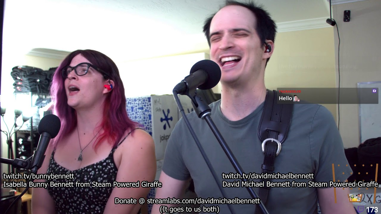 0158f2b9d1 David and Isabella Bennett (from Steam Powered Giraffe) Play Some Acoustic  Songs - 8/7/18