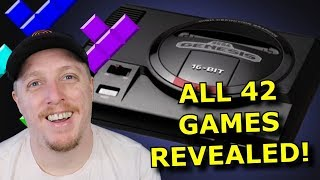 All 42 Genesis Mini Games REVEALED! Sega Lied In a GOOD Way