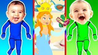 ROBOT BABY FINGER FAMILY COLORS 🤖 w/ Princess Blondie Shopping 💄 Kid Cartoon Songs by ANIMALSKETCH