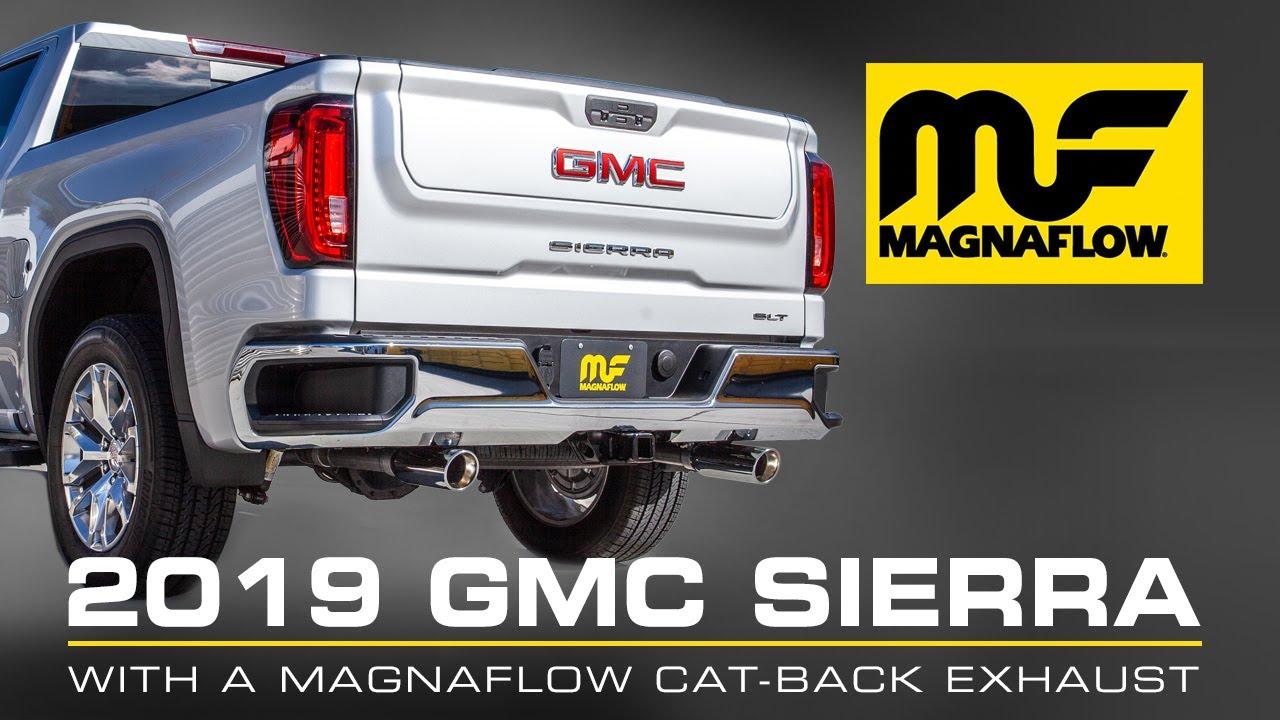sound clip 2019 2021 gmc sierra chevrolet silverado 1500 magnaflow cat back exhaust system