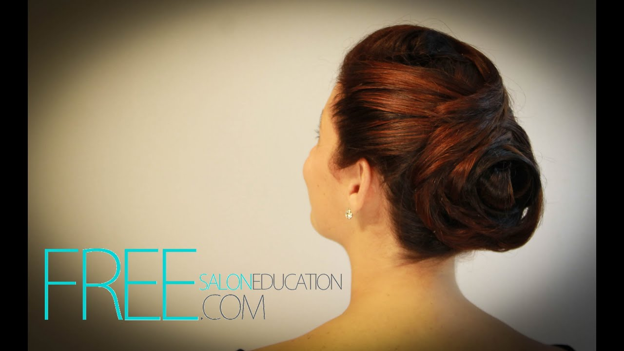 Flower inspired hair style - step by step Rose Hair Style by Barrett (Free Salon Education)