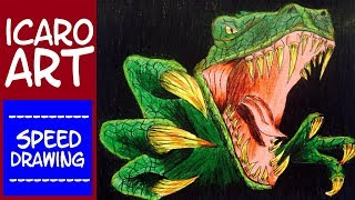 how to draw velociraptor | speed drawing velociraptor | como desenhar o velociraptor